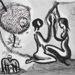 painting Jared FitzGerald ink on silk ink on paper drawing contemporary ink Chinese ink brushwork bold beijing artist art American